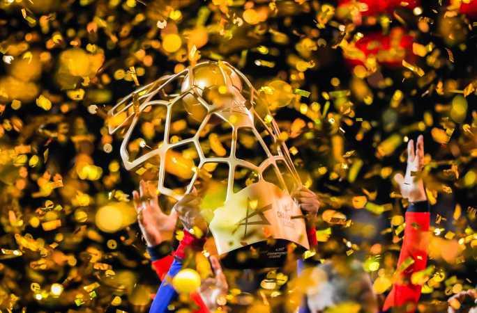 Handball EHF Final4 2021 - FC Barcelona Trophäe - Copyright: Uros Hocevar, Axel Heimken / EHF
