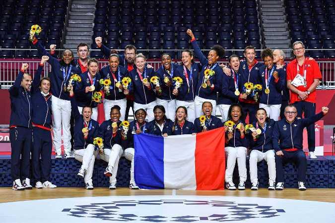 Olympia Tokio 2020 Handball Frauen - Frankreich Olympiasieger - Foto: FFHandball / Iconsport
