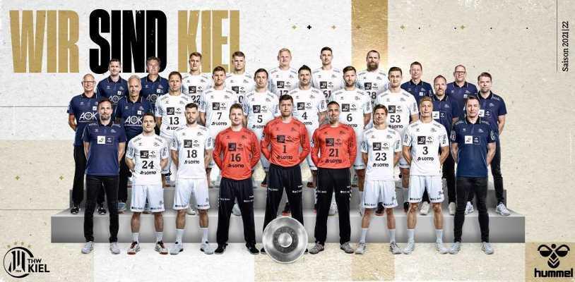 THW Kiel - Handball Bundesliga und EHF Champions League Saison 2021/2022 - Copyright: HBL / THW Kiel