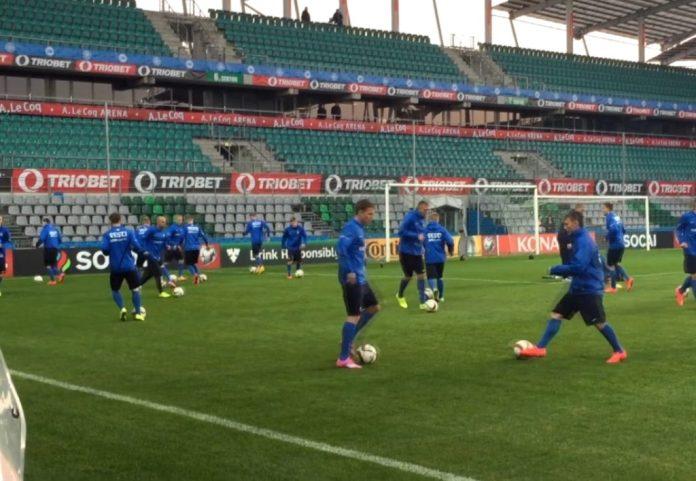 Тренировка сборной Эстонии