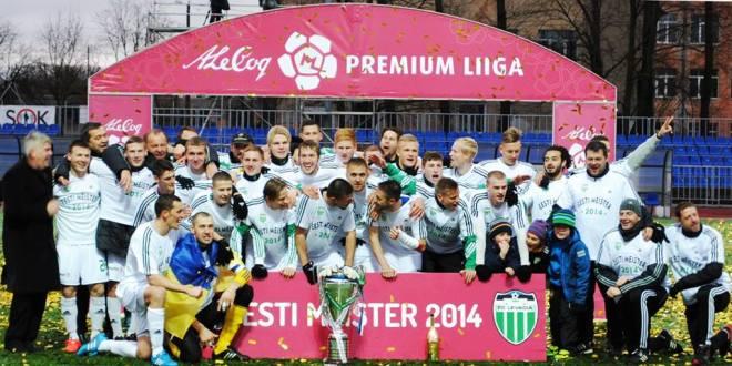 Левадия выиграла чемпионат Эстонии по футболу 2014 года