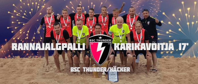 BSC Thunder/Häcker обладатели кубка Эстонии по пляжному футболу 2017