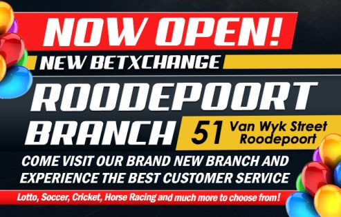 New Roodepoort BetXchange branch | Sports Betting South Africa