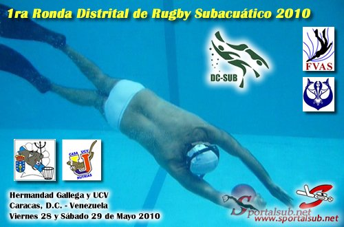 distritalrugbysub2010 1ra Ronda Distrital de Rugby Subacuático 2010 en Caracas, Venezuela