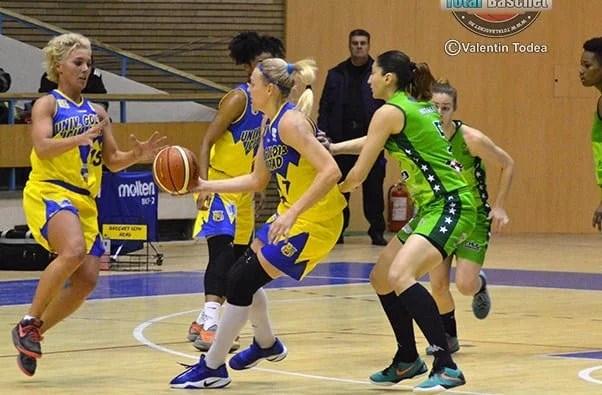 Fără dubii pe locul 7 și un sfert de finală cu U. Cluj: Univ Goldiş ICIM Arad – CSBT Alexandria 79-50