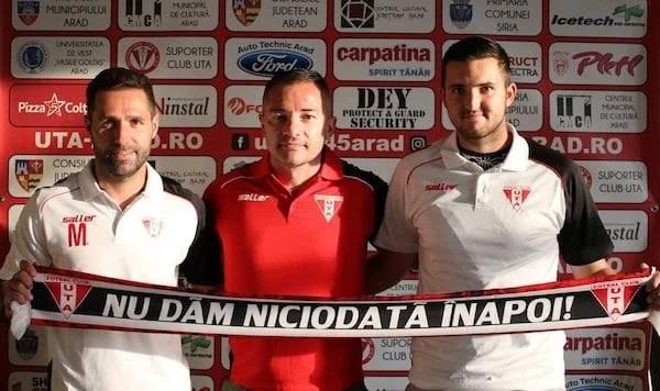 Transferurile zilei au crescut la 3 la UTA: portarul Caucă și mijlocașul Grigorie au semnat cu ˝roș-albii˝