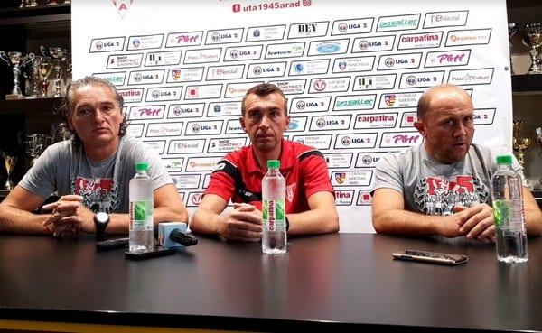 """UTA, din nou pe mâna arădenilor! Todea, Botiș și Păcurar - stafful tehnic anti-criză: """"Obiectivul e câștigarea următorului meci și găsirea coeziunii în echipă!"""""""