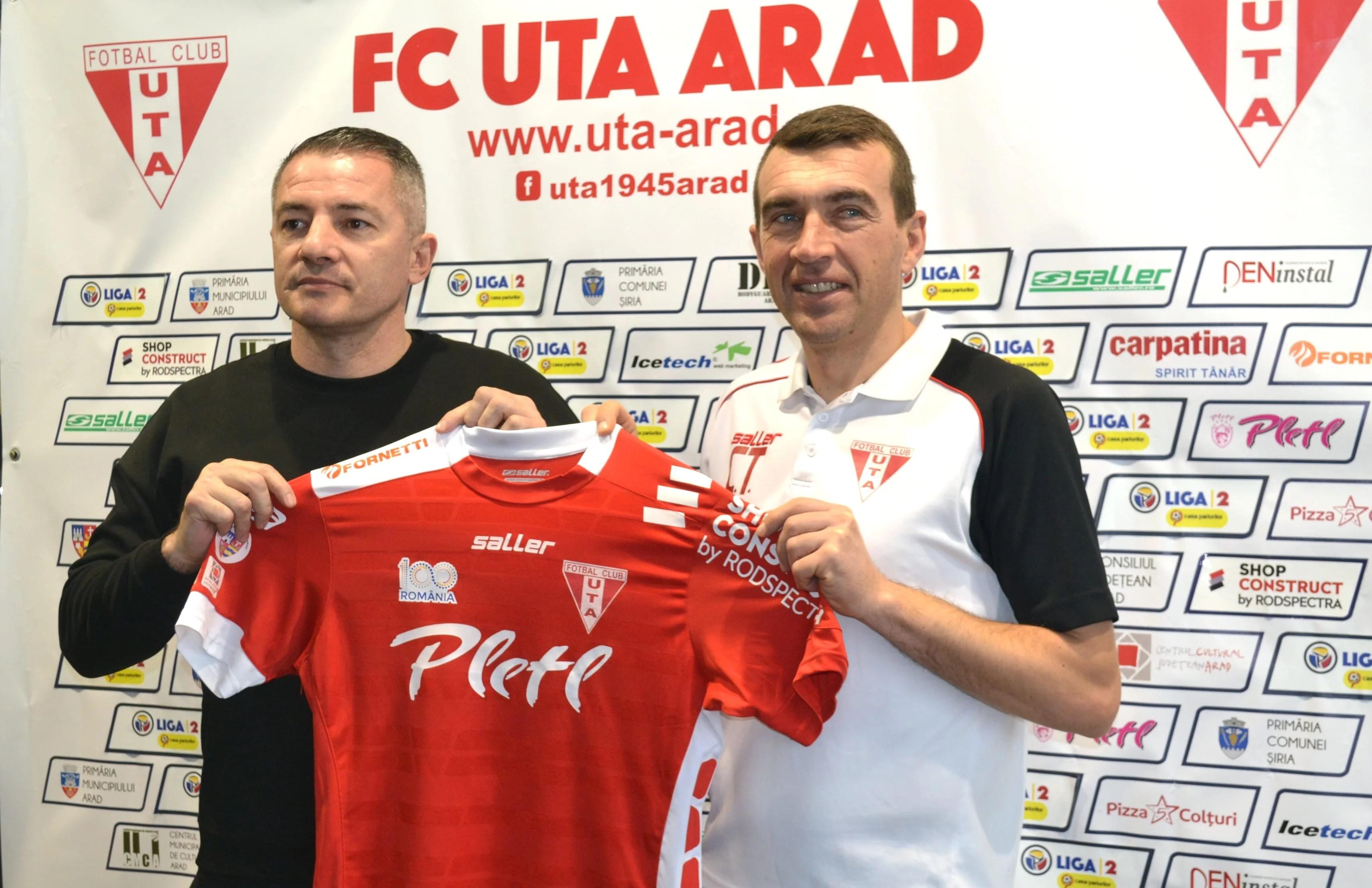 """La echipă nouă, logo nou pe tricoul UTA-ei! Todea: """"Marele plus – un vestiar mai puternic, iar bugetul de salarii nu are legătură cu prestația din teren"""""""