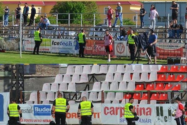 Primul derby al Vestului fără galerii! Suporterii utiști scandează din afara stadionului