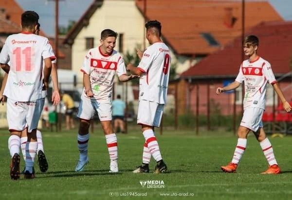 Antrenament cu public și la Under 17: UTA – Dacia Orăștie 10-0
