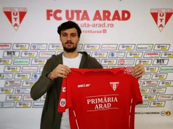 """A venit semnătura lui Melinte: """"Mi-aș dori foarte mult să joc cu UTA în Liga I, ținând cont că aici am debutat"""""""