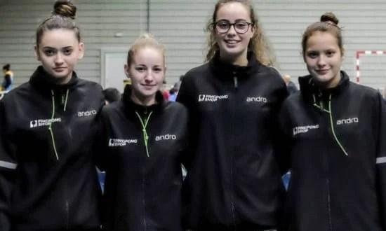 Junioarele s-au remarcat la naţionalele pe echipe la tenis de masă
