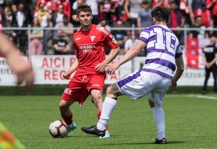 Cristi Costin a debutat în Liga 1 cu 90 de minute consistente în tricoul Voluntariului