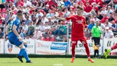"""Photo of Alex Oroian a marcat golul etapei și a fost aplaudat la scenă deschisă la primul meci ca titular la UTA: """"Sper să-mi câștig locul de titular la anul"""""""