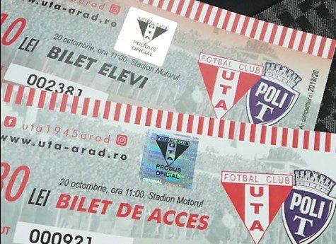 """Ultimele bilete la UTA – Poli se dau mâine dimineață, """"roș-albii"""" în cantonament la Continental"""