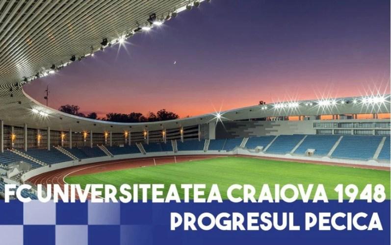 """Noua arenă din Târgu Jiu își aprinde reflectoarele pentru FC U Craiova - Pecica! Szekely: """"Favoriți ei, dar nu sunt ceva de speriat!"""""""