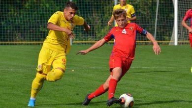 """Photo of Melniciuc a """"lovit"""" din nou pentru România U15, de data aceasta arădeanul a reușit """"dubla"""" în Republica Moldova"""