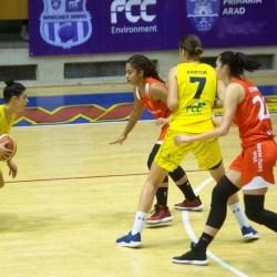 Spectacolul cu vicecampioana a ținut doar trei sferturi, dar succesul e mare: FCC Baschet Arad – CSM Satu Mare 59-57