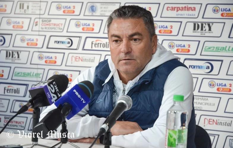 """Ilie Stan, cu linia secundă la Arad: """"Le-am dat șanse jucătorilor mai proaspeți, am căzut psihic și fizic după greșeala portarului nostru"""""""
