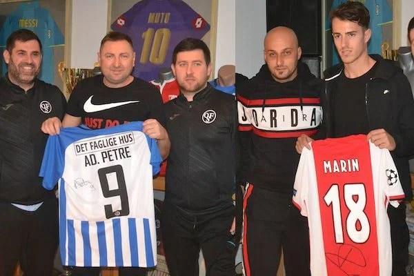 Tricourile lui Adi Petre și Răzvan Marin au adunat cei mai mulți bani la turneul caritabil, câștigat de UTA