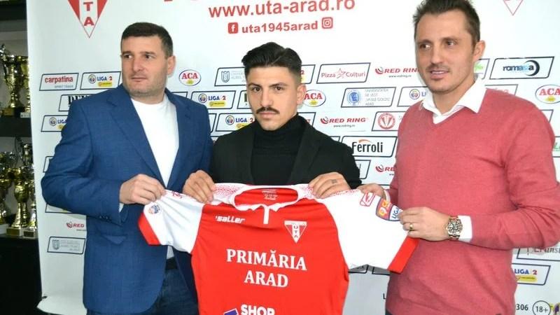 """Simo Roumpoulakou știe ce-l așteaptă la Arad: """"UTA – un nume mare în fotbalul românesc, sperăm să promovăm la finalul sezonului"""""""
