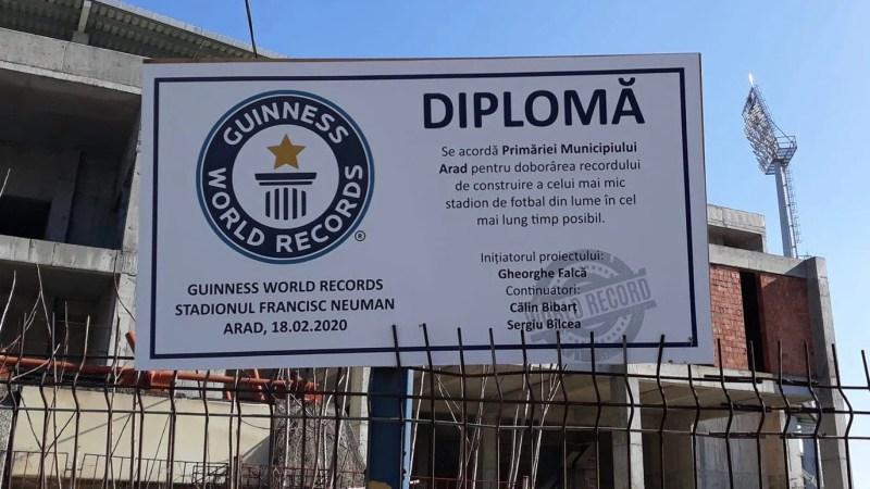 """Inevitabilul s-a produs: Primăria Arad e de Cartea Recordurilor în chestiunea stadionului """"Francisc Neuman"""""""
