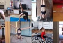 """Photo of În loc de concursuri, micile gimnaste ale CSM-ului se antrenează online: """"Sperăm ca din vară să putem relua activitatea"""""""