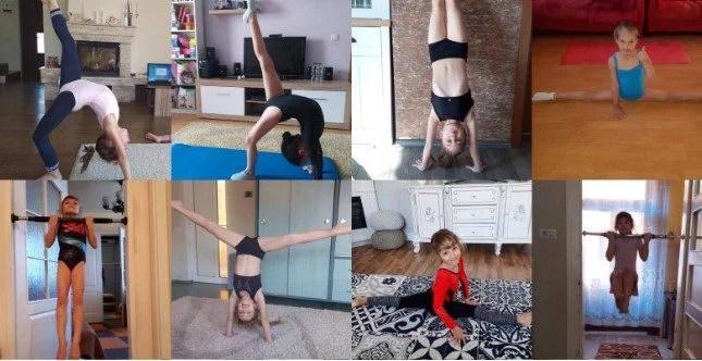 """În loc de concursuri, micile gimnaste ale CSM-ului se antrenează online: """"Sperăm ca din vară să putem relua activitatea"""""""