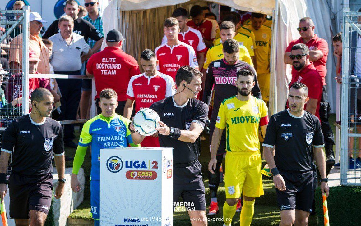 Mioveni și UTA deschid etapa a treia a play-offului Ligii a 2-a luni, 20 iulie, celelalte două partide se dispută o zi mai târziu