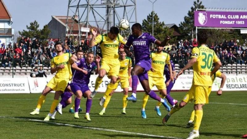 Încă un caz pozitiv de COVID-19 în play-off-ul Ligii 2, meciul Campionii FC Argeș – CS Mioveni a fost amânat
