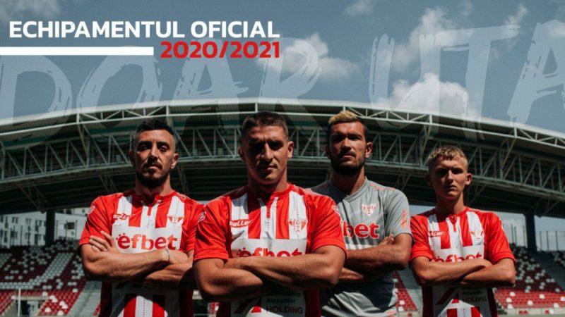 """UTA revine în Liga 1 într-un tricou """"alb-roșu"""" cu dungi, culoarea celui de-al doilea echipament e gri!"""