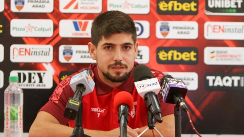 """Ursu, între primul gol în Liga 1: """"O decizie de moment, am vrut să prind poarta"""" și meciul cu Dinamo: """"Important e să avem atitudine"""""""