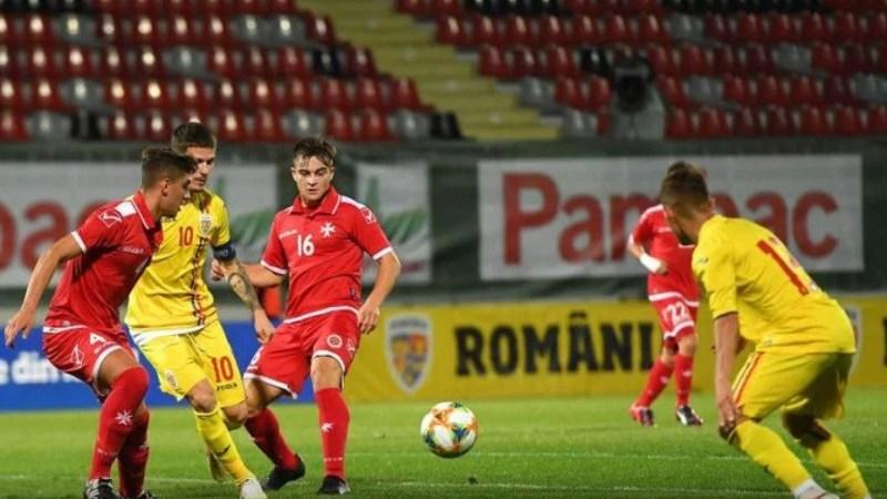 """Arădeanul Man a reușit """"dubla"""" în succesul """"tricolorilor mici"""" împotriva Maltei"""
