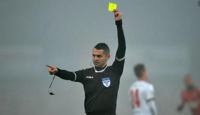 Iulian Călin o arbitrează în premieră pe UTA, argeșeanul a condus ultimul meci al CFR-ul exact acum un an