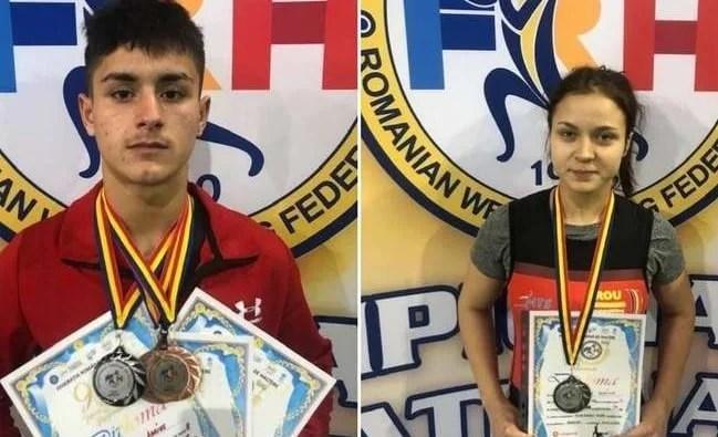 """Tinerii halterofili ai AMEFA-ei s-au întors cu medalii de la """"naționalele"""" de seniori"""