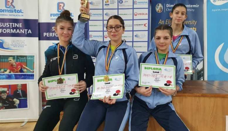 Medalie națională pentru tenisul de masă arădean: Alesia Sferlea a cucerit bronzul la Top 16 junioare II
