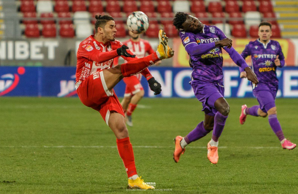 Liga I, etapa a 26-a: FC Argeș trece din nou peste UTA, remiză inutilă între Voluntari și Dinamo