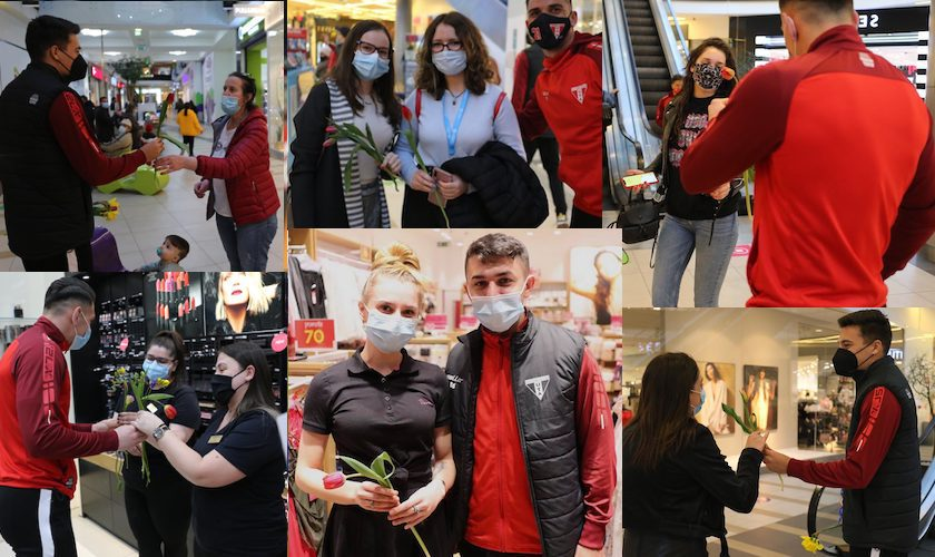 Utiștii și-au surprins fanele la Atrium Mall
