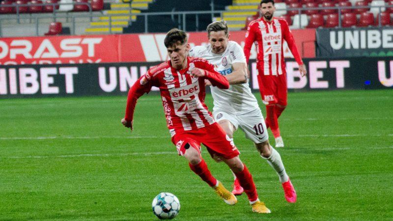 """Juniorul Damian Isac a sărit în ochi în meciul cu CFR: """"Nu pot să spun că am jucat foarte, foarte bine, îmi doresc mult mai mult"""""""