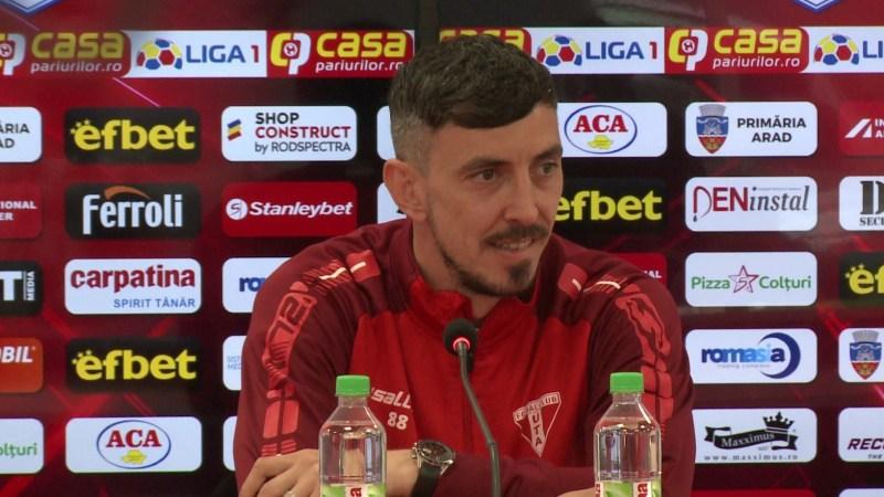 """Hora nu pune preț pe titlul de golgheter al UTA-ei: """"Sper să dea Erico două goluri duminică și să fim cu toții fericiți pentru îndeplinirea obiectivului"""""""