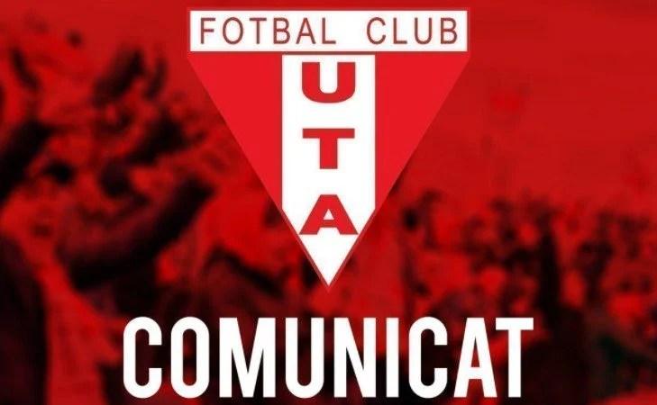 """Clubul UTA a fost clasat în procesul ce-i vizează pe """"oficialii"""" săi, acuzați de DNA de complicitate la infracțiunea de mită!"""