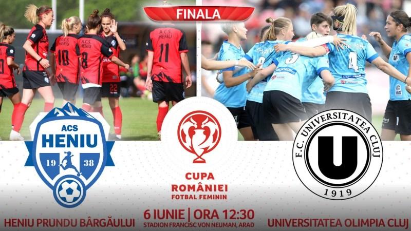 Biletele la finala Cupei la fotbal feminin de la Arad se pot procura doar online pentru 10 lei și cu dovada vaccinării sau a testelor RT-PCR sau antigen!