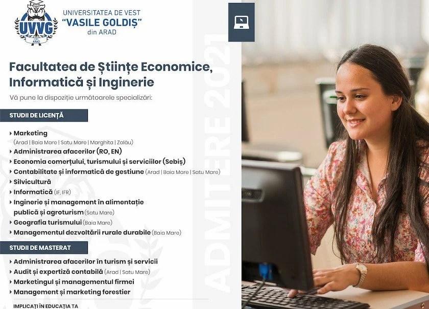 """Totul despre Facultatea de Științe Economice, Informatică și Inginerie din cadrul Universității de Vest """"Vasile Goldiș"""" din Arad"""
