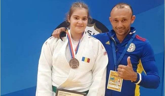 Judoka Daria Tudorache, medalie de bronz la Cupa Europei!