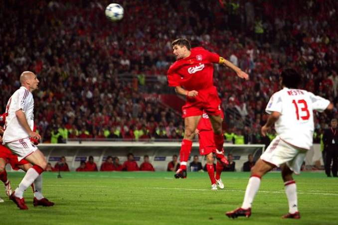 Gerrard played a huge role in Turkey, scoring Liverpool's first and dragging them back into the game from 3-0 down. Image: PA Images