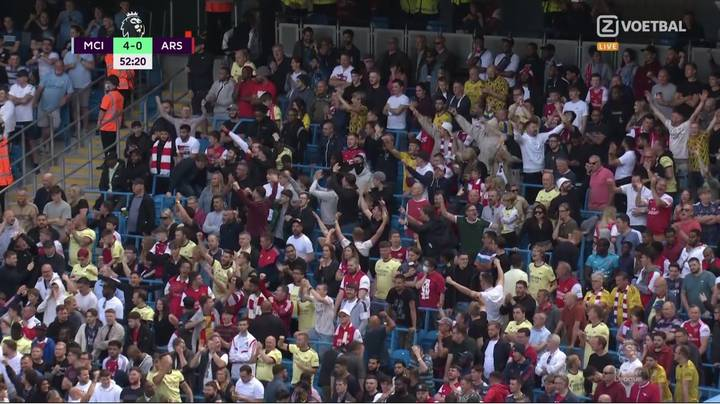 Arsenal Fans Genuinely Celebrated Rodri's Goal For Manchester City
