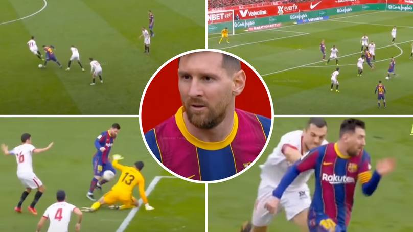 Lionel Messi Vs Sevilla collection shows why he is back so well