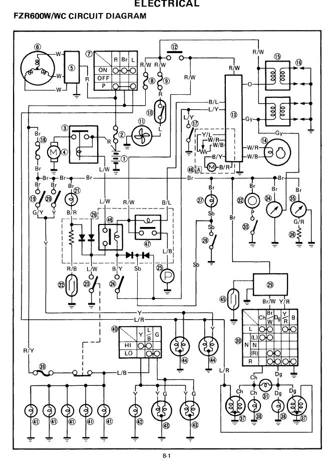 1987 Fzr 1000 Wiring Diagram : 28 Wiring Diagram Images