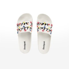 Desigual - SHOES_SLIDE CANDY - BLANCO