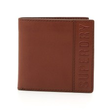 Superdry - VERMONT BIFOLD LEATHER WALLET - TAN